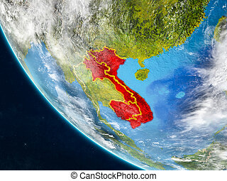 Indochina from space on Earth - Indochina on planet Earth ...