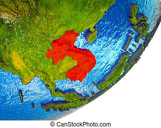 Indochina on 3D Earth - Indochina on 3D model of Earth with ...