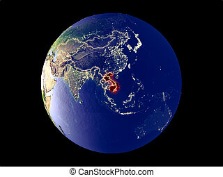 Indochina on Earth from space - Indochina from space on ...