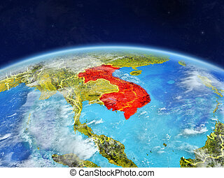 Indochina on Earth from space - Indochina on planet Earth ...