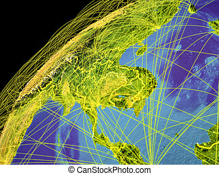 Indochina on Earth with borders - Indochina from space on ...