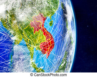 Indochina on Earth with networks - Indochina on planet Earth...