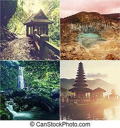 indonésia, colagem