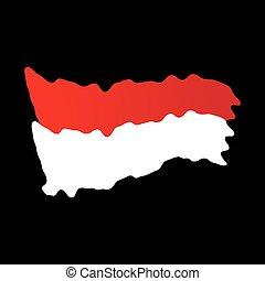 indonésie, indépendant, jour