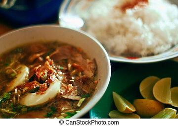 indonésien, curry poulet