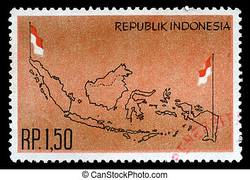 INDONESIA - CIRCA 1963: stamp printed by Indonesia, circa...