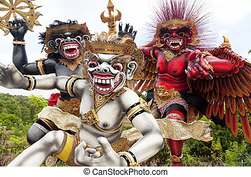 indonesia, estatuas, ogoh-ogoh, bali