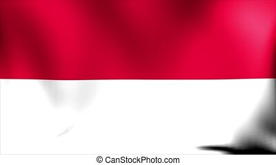 Indonesia Flag. Background Seamless Looping Animation.