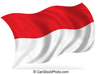 Indonesia flag, isolated