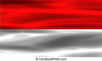 indonesia flag with real structure of a fabric