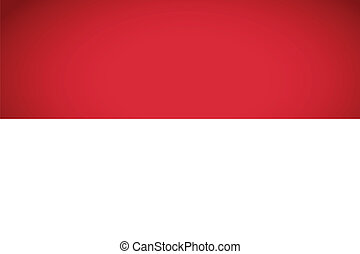 Indonesia Flag. Vector illustration.