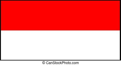 Indonesia flag vector illustration isolated on background
