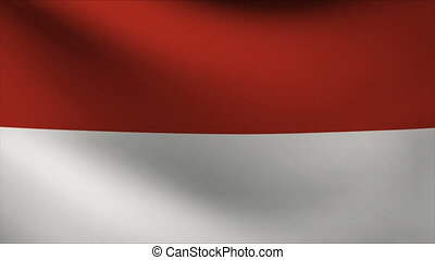 indonesia flag waving gently in wind