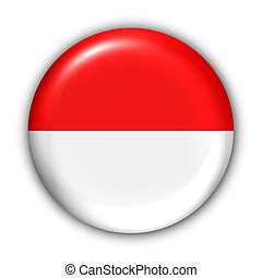 Indonesia Flag - World Flag Button Series - Asia - Indonesia...