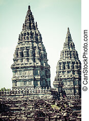 indonesia, indù, yogyakarta, prambanan., java, tempio