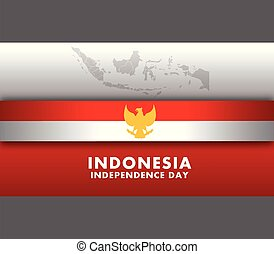 Indonesia Independence Day Wide Screen Background - Vector...