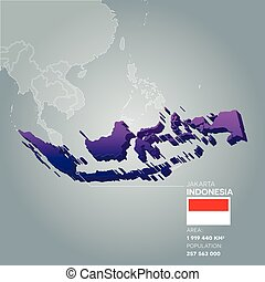 Indonesia information map.