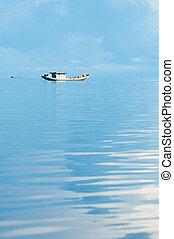 indonesia, islas, pesca, mar, banda, barco