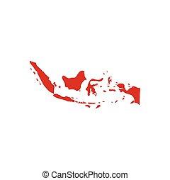 indonesia map logo icon vector symbol element