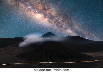 indonesia, morning., impresionante, grande, surabaya, sky., ...