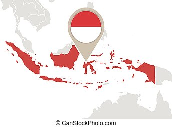 World map with highlighted indonesia simlified political vector map world map with highlighted indonesia simlified political vector map in dark grey and pink highlight gumiabroncs Image collections