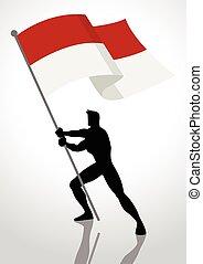 Indonesia or Monaco Flag Bearer
