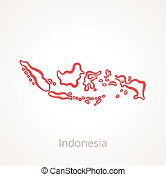 Indonesia - Outline Map