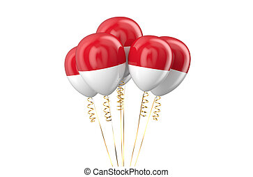 Indonesia patriotic balloons holyday concept