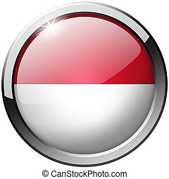 Indonesia Round Metal Glass Button