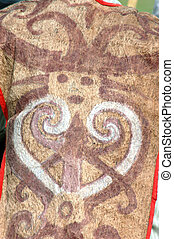 Indonesia typical vest made from tree bark