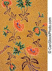 Indonesian Batik Sarong - Image of Indonesian batik sarong...