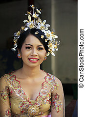 Indonesian bride - The Indonesian happy bride. Bali....