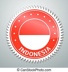Indonesian flag label - Vector flag label series - Indonesia