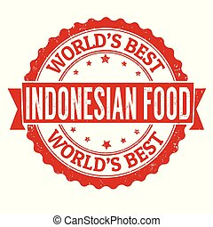 Indonesian food sign or stamp
