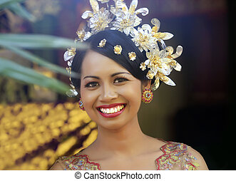 Indonesian happy bride