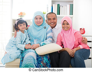 indonesian malay family having a good time