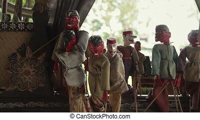 Indonesian Puppetry - Wayang Golek, Punakawan wooden dolls