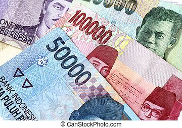Indonesian rupiah money background