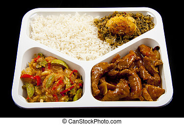 Indonesian take away - Special plate with indonesian food...