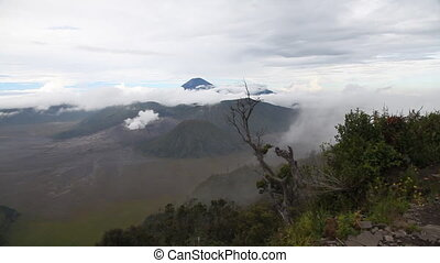 Bromo, Batok and Semeru Volcanos. Indonesia, East Java