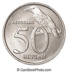 indonesiano, rupiah, 50, moneta