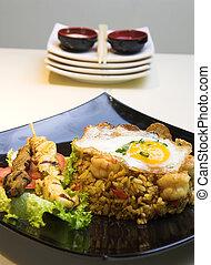 indonesisk, stege ris