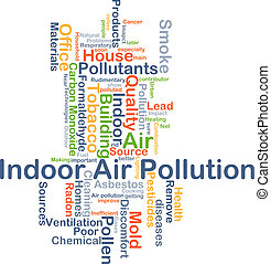 Indoor air pollution background concept - Background concept...