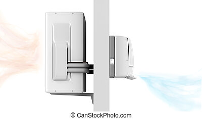 Indoor and outdoor units of air conditioner