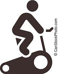 indoor, ciclismo, ícone