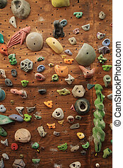 indoor climbing wall - vertical image of homemade indoor...