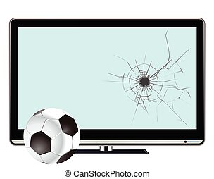 Indoor football - Comical indoor football and broken ...