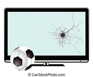 Indoor football - Comical indoor football and broken ...