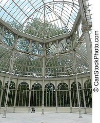 Indoor glasshouse in Madrid - Indoor Palacio de Cristal in...