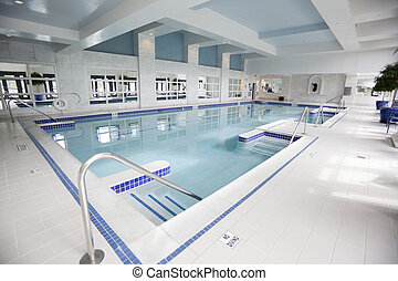 Indoor Hotel Pool - indoor hotel pool with white marble ...